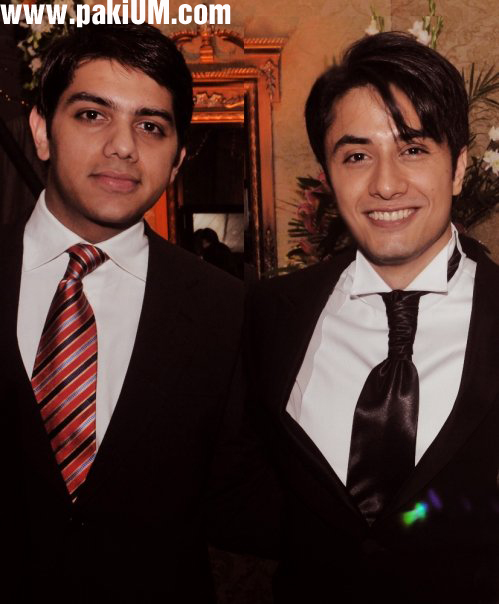 Goher Mumtaz with Ali Zafar at his wedding