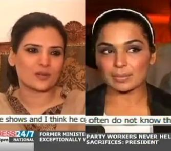 Pakistani Film Actresses Meera and Resham's reaction on Rahat Fateh