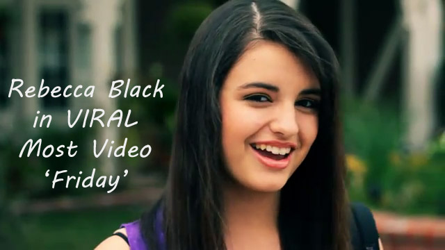 Rebecca Black waiting for her Friends in Official Music Video