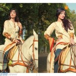 Pakistani model Sadia Hyat Khan riding on horse