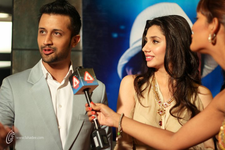 Atif Aslam and Mahira Khan at BOL Movie Premier in ATrium Cinemas KArachi
