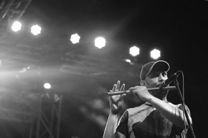 Baqir Abbas playing Live Flute in a Concert