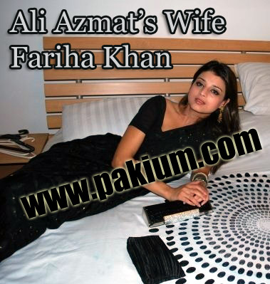 Ali Azmat's Wife and Bride Fariha Khan