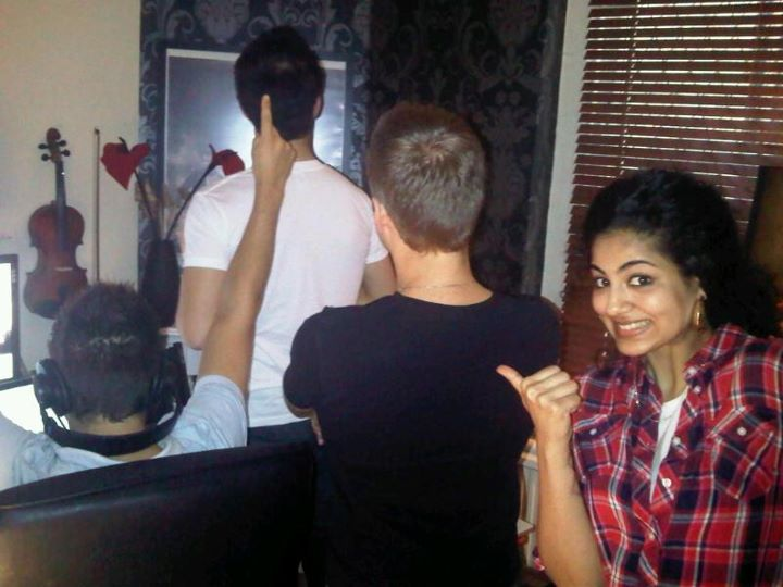 Annie Khalid with All boys Band Akcent ?