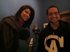 Adil Omar and Meesha Shafi