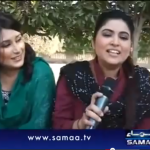 Maya khan on Samaa TV