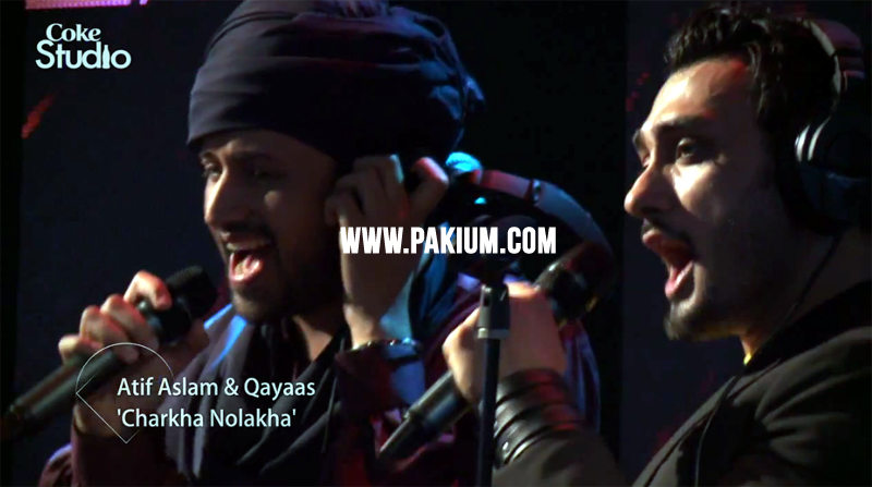 Atif Aslam and Qayaas in Coke Studio