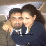 Annie Khalid with her hubby Noureed