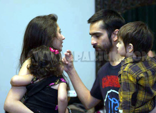 Mahira Khan with son, baby and Husband