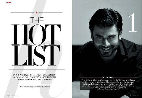 Fawad Khan Tops Hottest Men Pakistan List