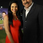 Veena Malik with Pakistani Cricketer Zaheer Abbas