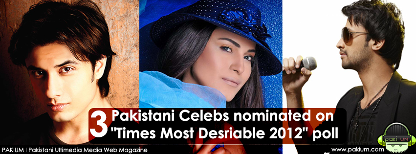 Atif Aslam, Veena Malik & Ali Zafar nominated on itimes poll