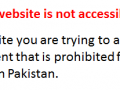 site blocked in pakistan