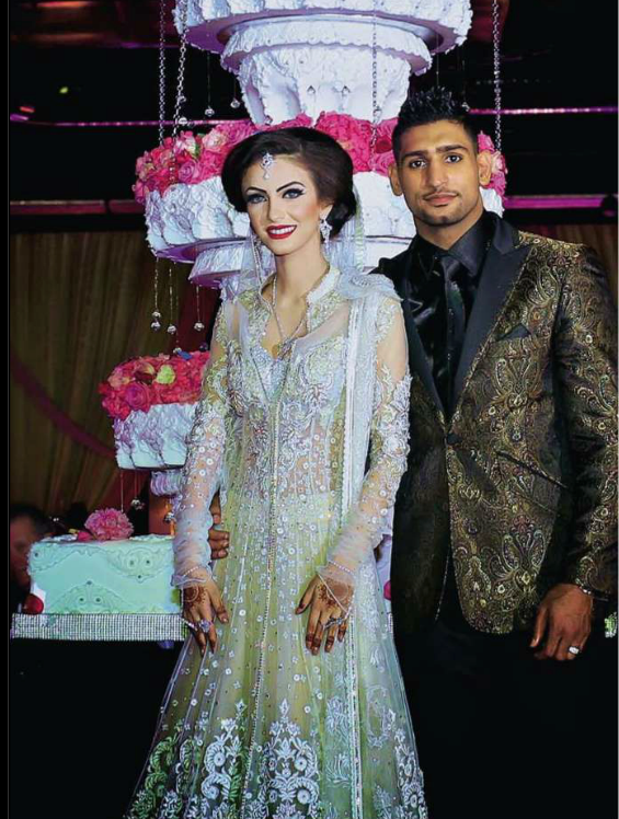 Amir Khan And Faryal Makhdoom Valima Pictures
