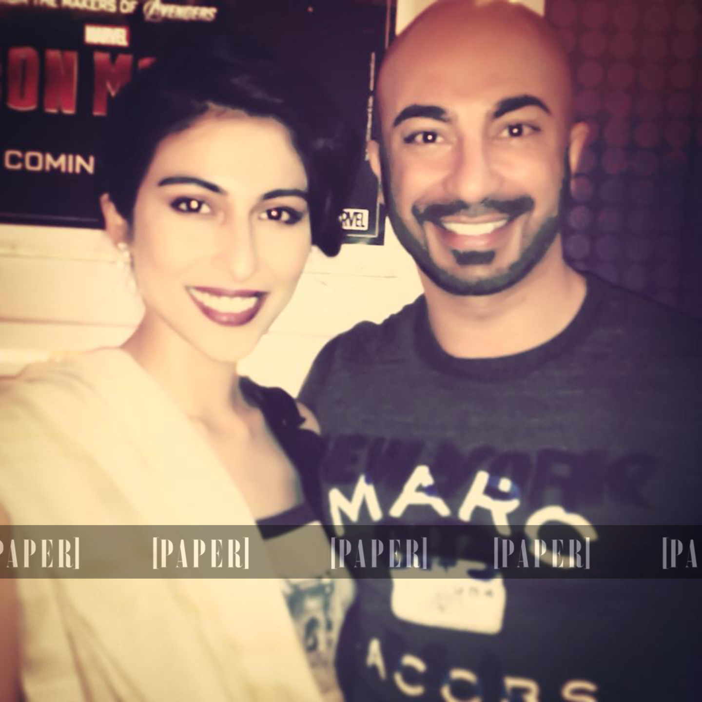 Meesha Shafi and HSY at The Reluctant Fundamentalist Red Carpet