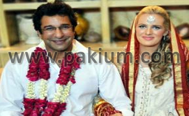 Wasim Akram Shaniera Wedding Photo