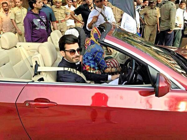 Fawad Khan spotted on the sets of upcoming Bollywood Movie