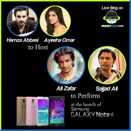 hamza-abbasi-ayesha-omar-host-ali-zafar-sajjad-ali-perform-samsung-note-4-launch-event