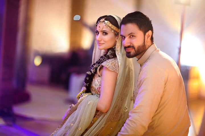 Mustafa Zahid wedding picture with his wife Jia