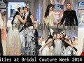 Celebrities at Bridal Couture Week Lahore 2014