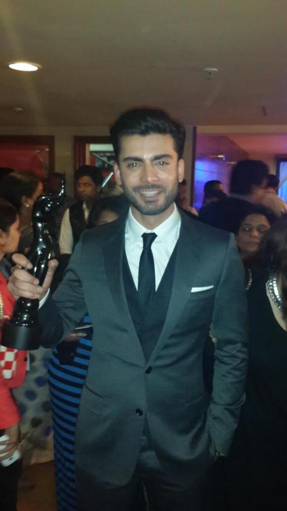 Fawad Khan win Best Male Debut at 60th Filmfare in Mumbai